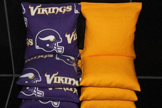 Minnesota Vikings Set of 8 Cornhole Bags FREE SHIPPING