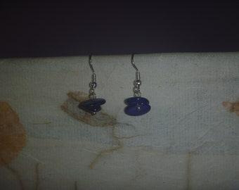royal blue dangle earrings, handmade drop earrings