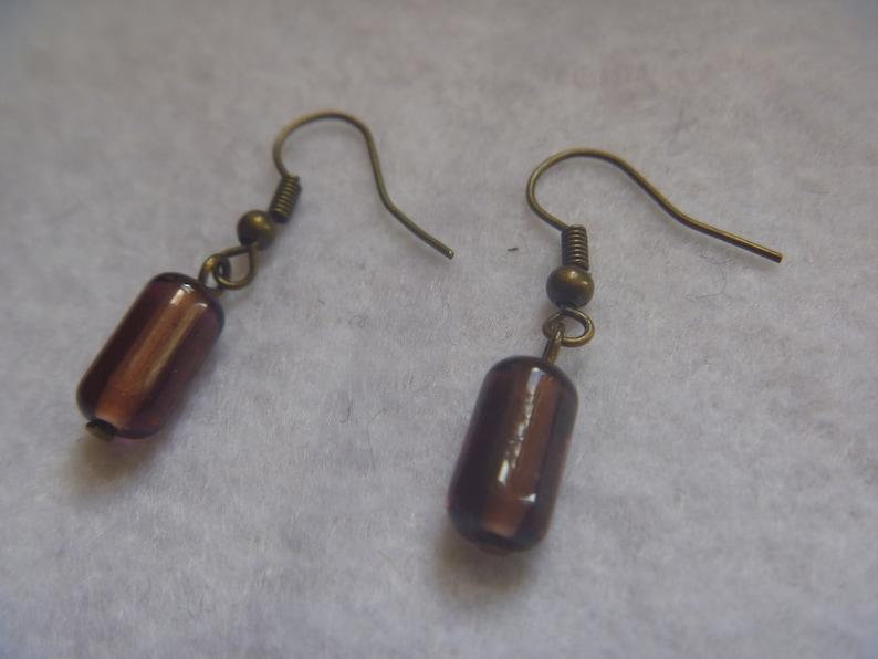 purple dangle earrings handmade ecofriendy drop earrings image 1