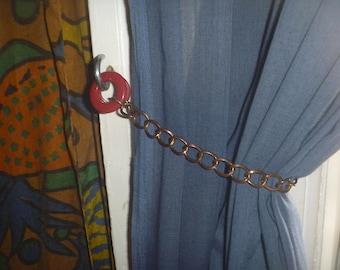 pair of curtain tie backs, ecofriendly curtain tie backs
