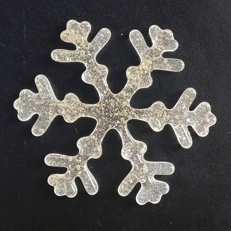 Cabochon 3.7595mm Snowflake Delicate Clear Mica Glass Love Charm All Everyone Sisterhood Brotherhood Kind Humans Rainbow of Love