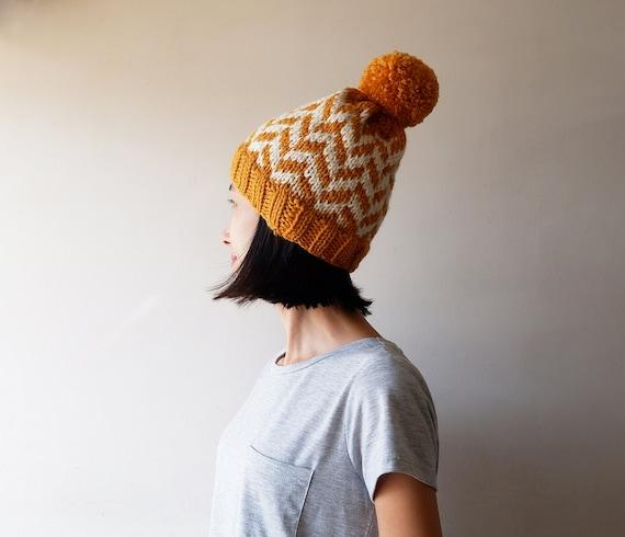 Crochet beanie Beanie hat Slouchy beanie Knit beanie Winter beanie Chunky hat Winter hat Christmas gift | Pom pom beanie
