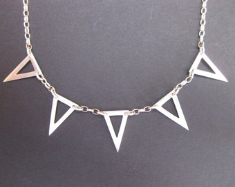 Triangle Pennant Necklace