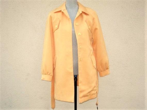 Damen gelb Trenchcoat, Womens Mod Style Jacke London Nebel Jacke Senf gelbMantel, Vintage Trenchcoat, Senf Mantel, Damen Mantel