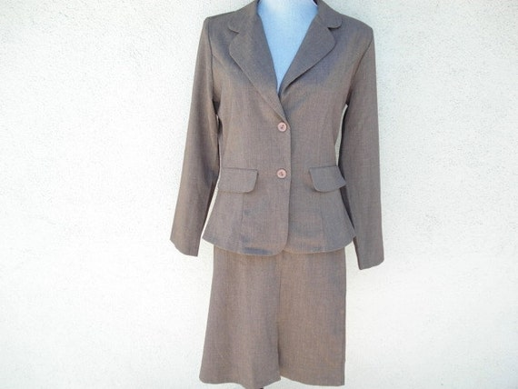 Vintage Ladies Suit, Business Clothes, Woman's Fas