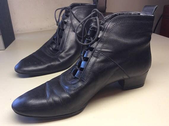 solide Grunge bottes cravate Sudini femme Mesdames derbies vintages chaussures noir noir bottines chaussures modes chaussures aile italienne wt8pa8vq