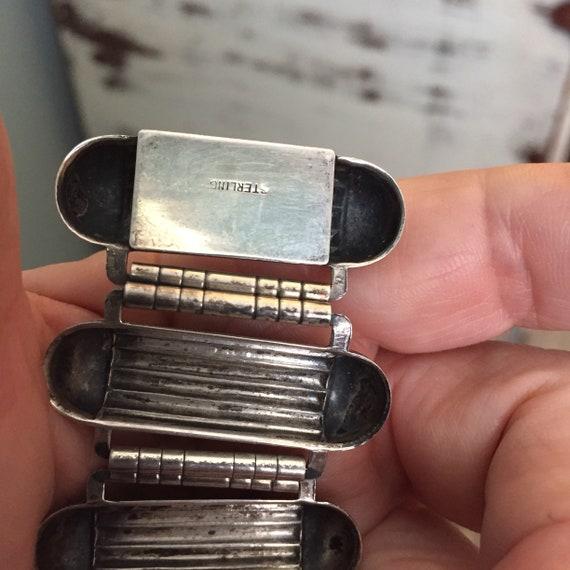 Industrial atomic sterling geometric  link bracel… - image 9