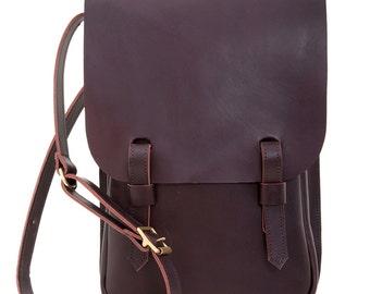Leather A4 Saddle Bag Brown
