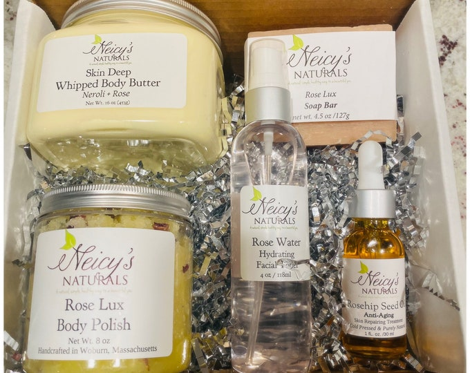 Neicy's Naturals ESCAPE GIFT SET   Custom Gift Box   Self Care Gift Boxes   Free Shipping