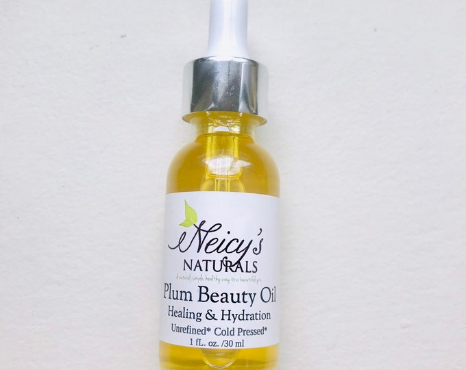 Plum Beauty Oil   1oz   Cold Pressed   Anti-aging   Hydration