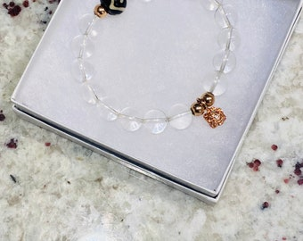 Neicy's Beadery Bracelet Collection | Clear Quartz Bracelet | Quartz Bracelets | Natural Beads | Great Stacking Bracelet