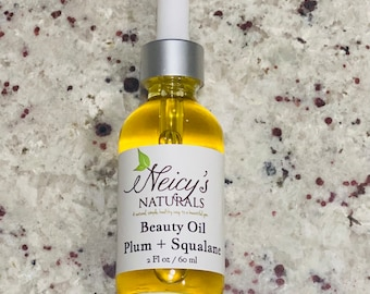Beauty Oil | French Plum Seed Oil | Squalane | Cold Pressed | Anti-aging | Hydration | Face | Neck | Décolletage