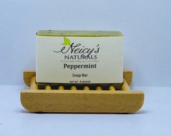Handmade Peppermint | Bar Soap | 4oz | Essential Oils