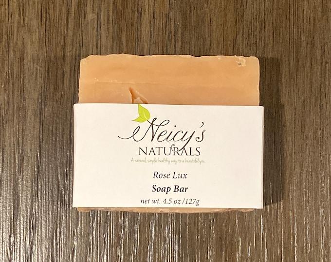 Rose Lux   Soap Bar   Handmade   4.5 oz