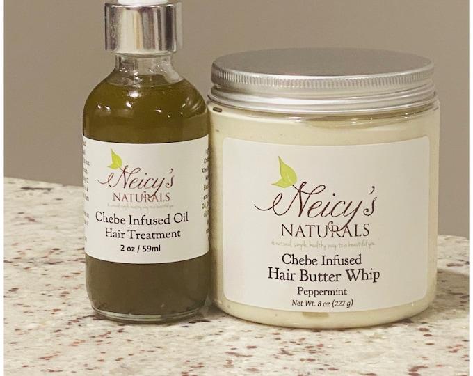 Chebe Infused Hair Oil + Hair Whip   Hair bundle   Hair Treatment   Moisturizer   Dry Hair  Gift Set