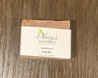 Sandalwood Soap Bar |  4.5 oz| Artisan Soap | Cold Process