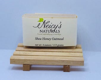 Shea Honey Oatmeal   Soap Bar   4 oz   Natural