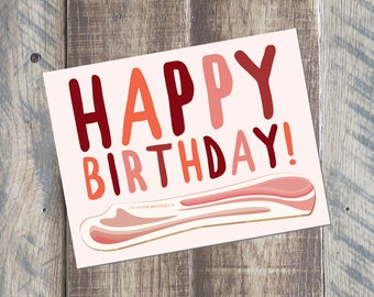 Bacon birthday card | Etsy
