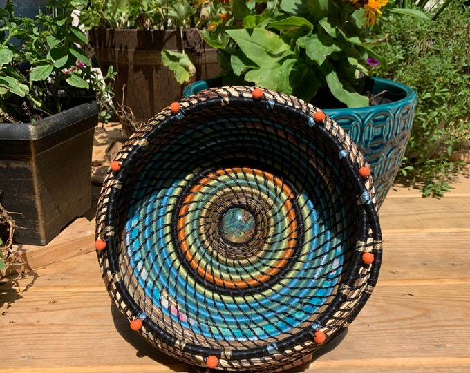 Calm Seas pine needle basket