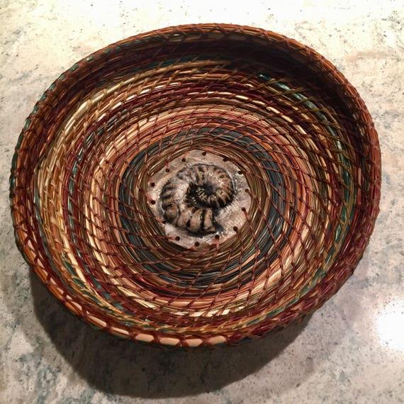 Blue Nautilus Medium Serving Basket