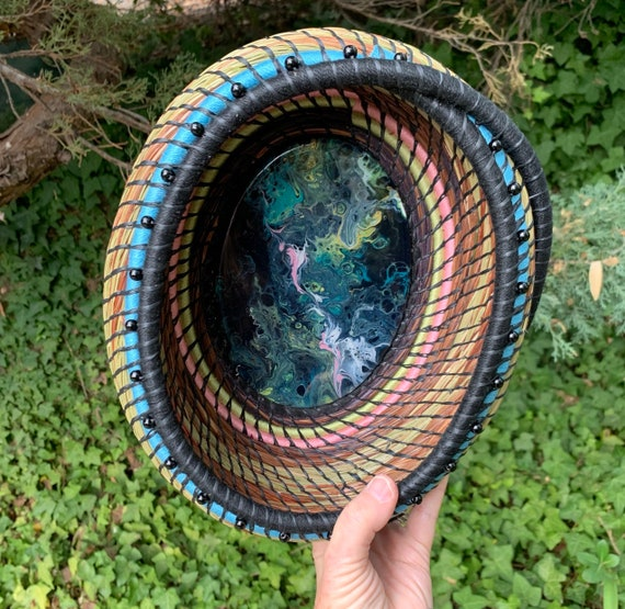 The Space Between the Stars pine needle basket serving bowl