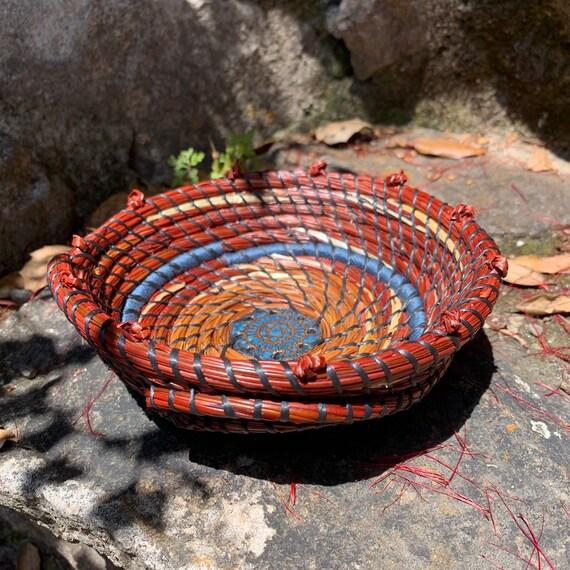 Rose of the Sea pine needle trinket basket
