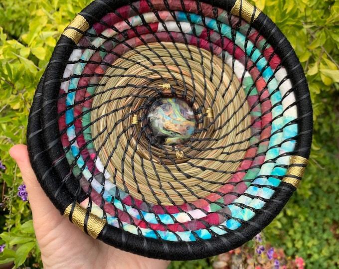 Sacred Sky pine needle trinket basket bowl