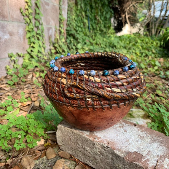 The Sea Inside pine needle and ceramic basket