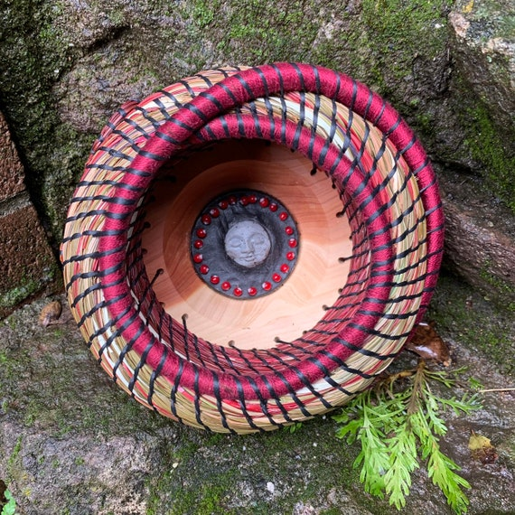 Blood Moon Pine Needle Basket
