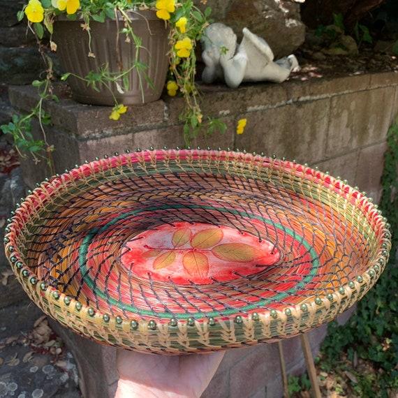 Summer Leaves Winter Serving Basket
