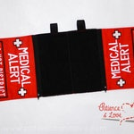 Cape, Medical Alert Do not distract, Mobility harness compatible dog cape, custom embroidered
