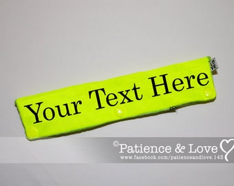 Leash Sleeve or collar wrap, Your text here, customizable, custom embroidered leash wrap, you personalize, pocket inside