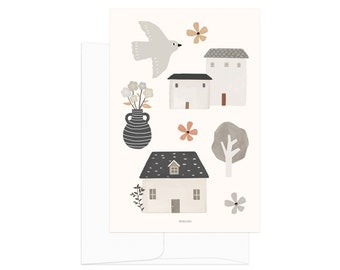 Country Life - Country House. Slow living lifestyle card