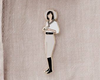Coffee Lady Enamel Pin - Lapel Pin - Badge