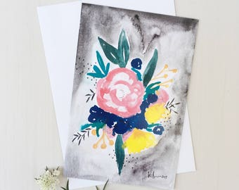 Large Gift Card - Night Flowers