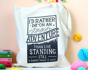 Darker Shade of Magic Tote Bag. Book Bag. Literary Bag. Literary Quote. Hand Lettering. Book Quote. Delilah Bard. Book Geek. Book Lover.