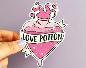 Love Potion Sticker. Liquid Luck Sticker. Vinyl Sticker. Vinyl Gloss Sticker. Bookish Sticker. Potions. Witchcraft. Wizard. Potion Bottle