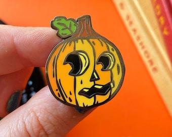 Halloween Pumpkin Enamel Pin. Cute Pumpkin Pin. Halloween Pins. Cute Halloween. Spooky Season. Happy Pumpkin Pin. Halloween Jewellery. Decor