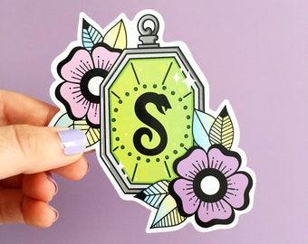 Locket Sticker. Snake Sticker. Vinyl Sticker. Literary Sticker. Bookish Sticker. Potions. Witchcraft. Wizard. Potion Bottle. Potion Sticker