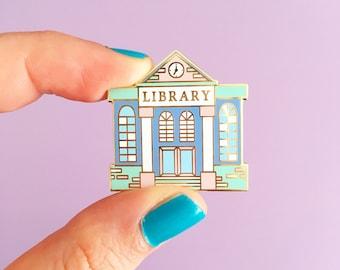 Library Enamel Pin. Librarian Pin. Book Enamel Pin. Literary Pin. Book Lover Pin. Book Lover. Bookworm. Book Lapel Pin. Book Badge. Book Pin