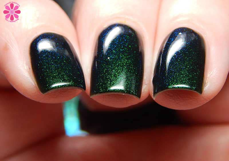 Unicorn Night Black Duochrome Color Shifting Green to Blue Indie ...