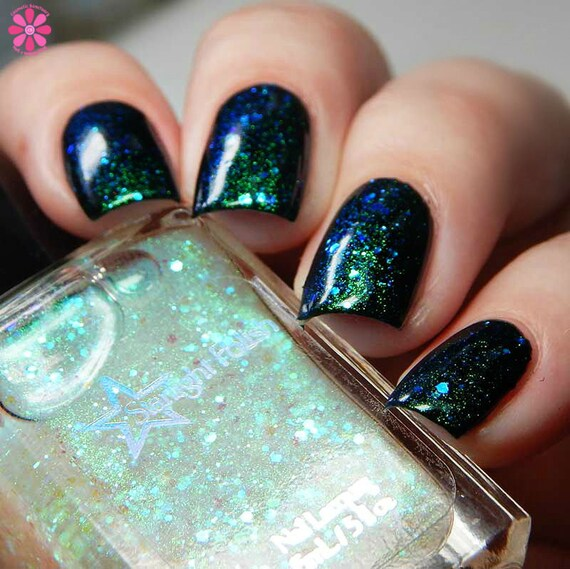 Unicorn Aurora Iridescent Color Shifting Glitter Shimmer Effect Top ...