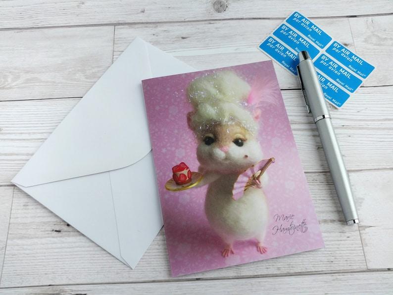 Marie Antoinette Hamster Card 'Marie Hamtoinette' Let image 0