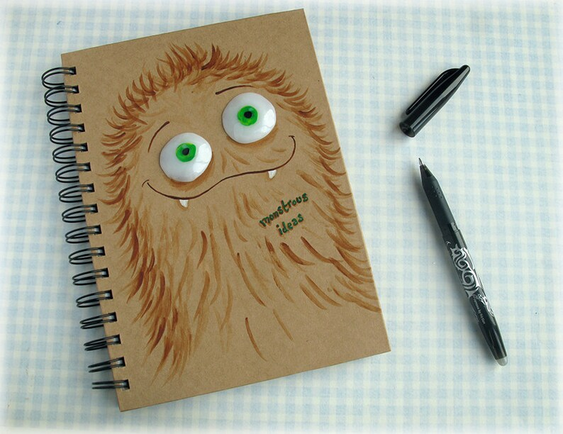 Monster Notepad Creepy Cute Spiral Notepad Wild One Birthday image 0