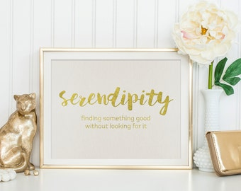 Instant Download PDF - Wall Art Printable - Faux Gold Foil Printable Quote - Inspirational Quote Printable - Printable Art - Life Quote