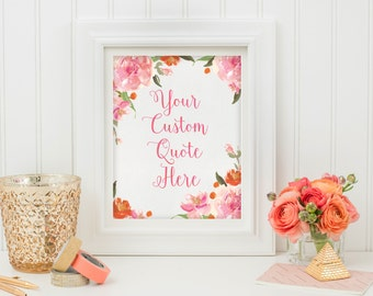 Custom Wall Quote - Custom Print - Custom Typography Art - Printable Custom Art - Personalized Quote - Digital Download - Motivational Quote