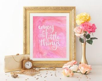 Printable Art - Digital Art - Inspirational Quote - Watercolor Art - Printable Quote - Wall Art Print - Wall Art Quote - Wall Quote - Quote