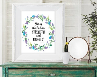Scripture Quote Print - Bible Verse Print - Bible Verse Art - Inspirational Quote - Religious Quote - Instant Download - Christian Art