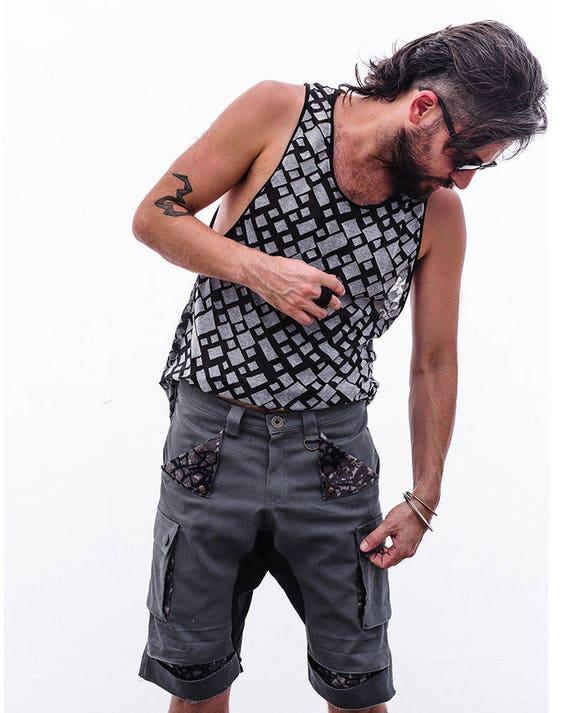 Shorts Shorts Gray Boho Cotton Clothing Hipster Men's Pants Mens Men's Pants Shorts Urban Casual Clothing Men's Men's Shorts Fashion 0qw0YC