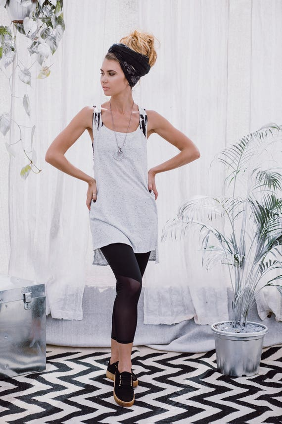 Racerback Dress Bohemian Top Burning Dress Tank Tank Top Mini Boho Gray Clothing Tunic Dress Top Top Tunic Summer Women Man Tunic pwnInaZ